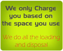 We Charge based on the space you use